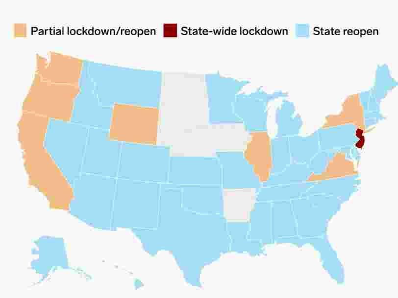 An Interactive Map Of The Us Cities And States Still Under Lockdown And Those That Are Reopening