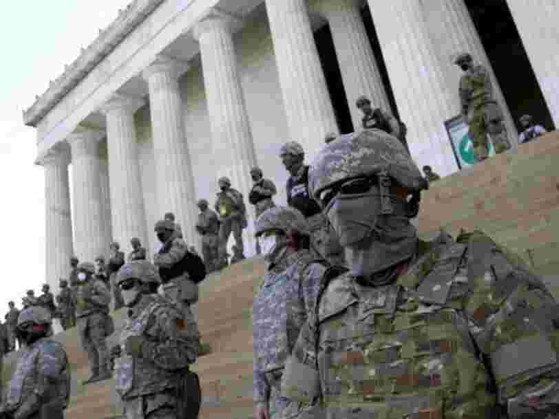 400 National Guard troops stand ready to defend 'key monuments' in DC as Trump threatens statue vandals with a decade in prison