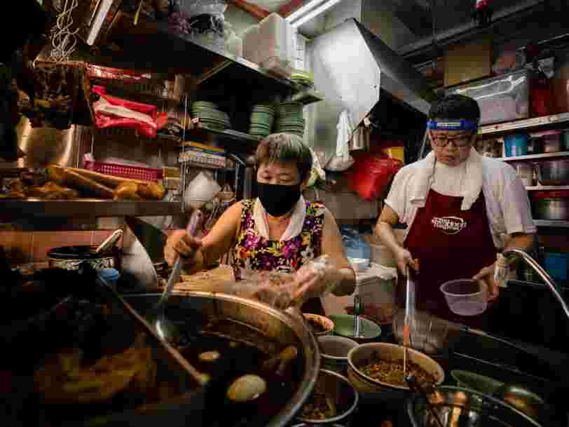 The pandemic has exposed vulnerabilities in Singapore's famed food hawker culture, where the average age of an operator is 60. Young Singaporeans are turning to social media to save it.