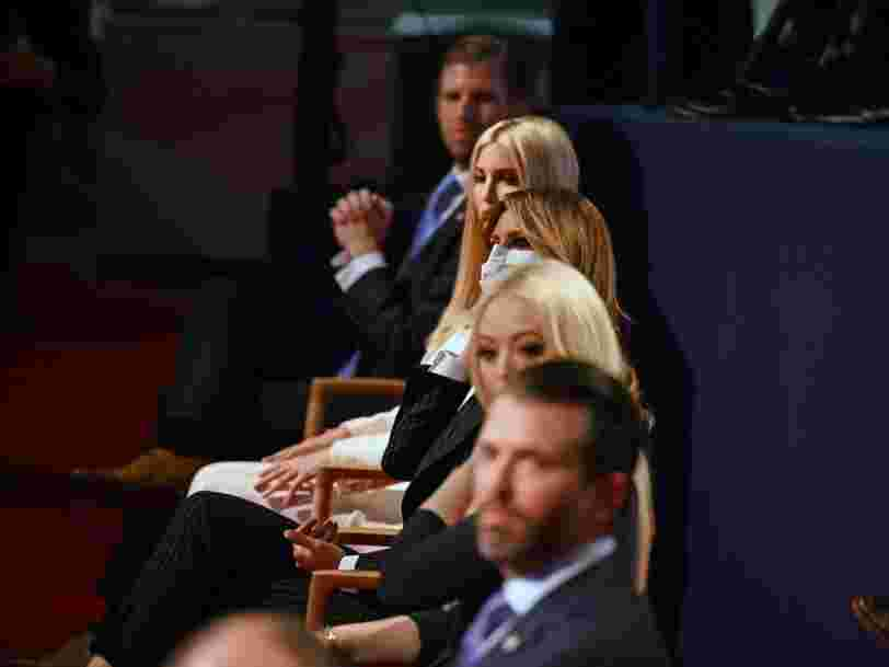 2 days before Trump and Melania tested positive for COVID-19, the Trump family broke venue rules and went mask-less at the presidential debate