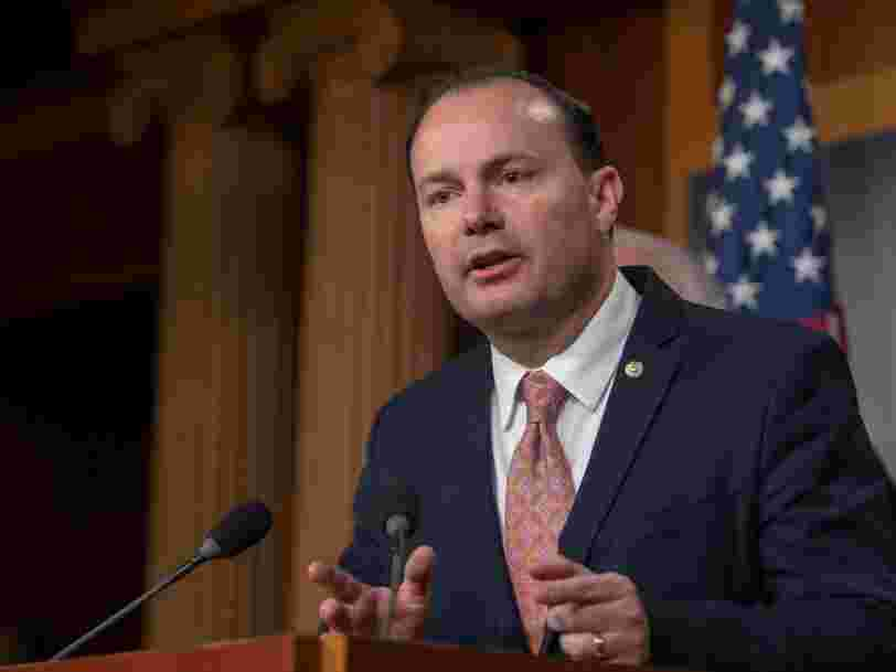 Republican Sen. Mike Lee said fact-checking labels placed by social media companies are a form of censorship
