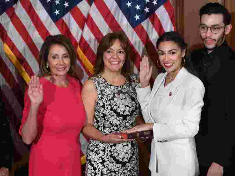 Alexandria Ocasio-Cortez rejects left-wing calls to force Pelosi to hold a 'Medicare for All' vote in exchange for her vote for the speaker