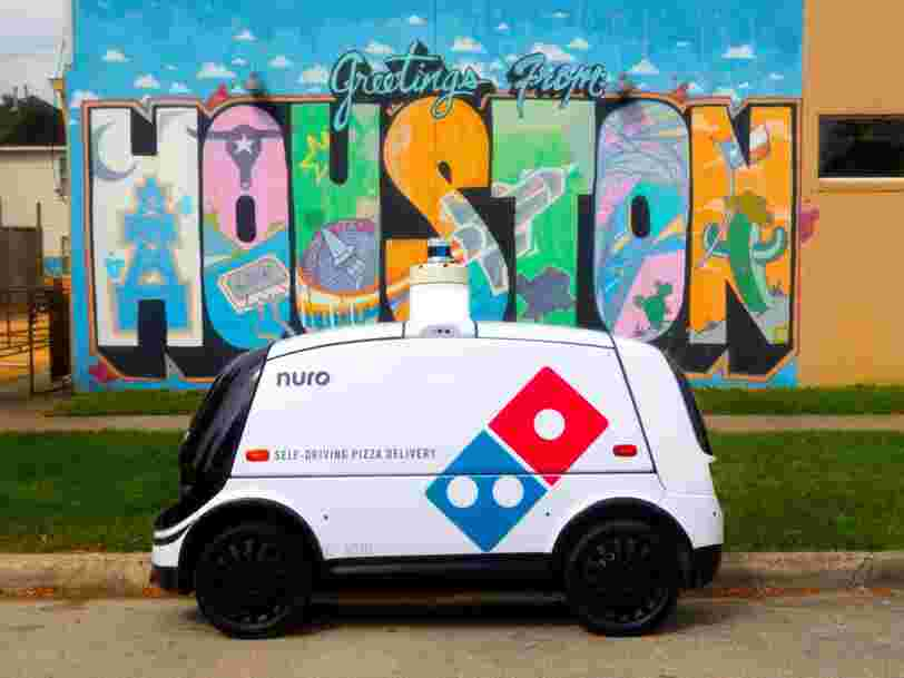 Domino's is launching autonomous pizza delivery with a tiny self-driving car