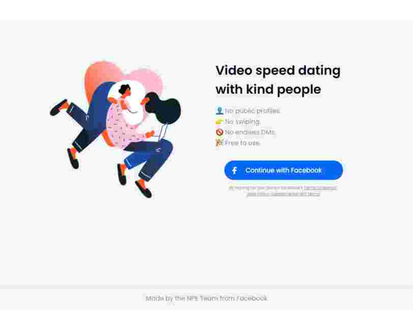 Facebook is testing a video speed-dating service where users have to pledge to create a safe space, be kind - and, please, don't ghost