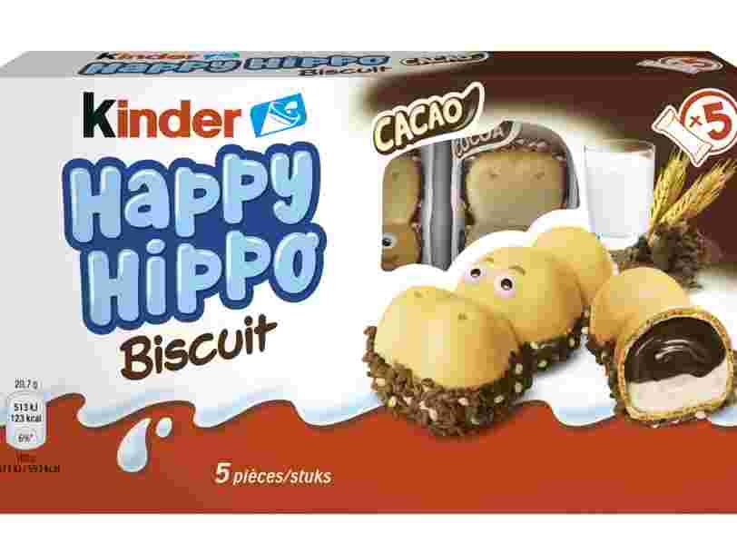 Avec les Kinder Happy Hippo, Ferrero continue les lancements de biscuits en France