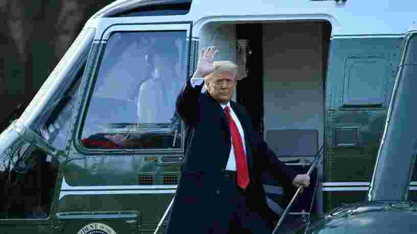 Voici la dernière image du président Donald Trump quittant la Maison Blanche