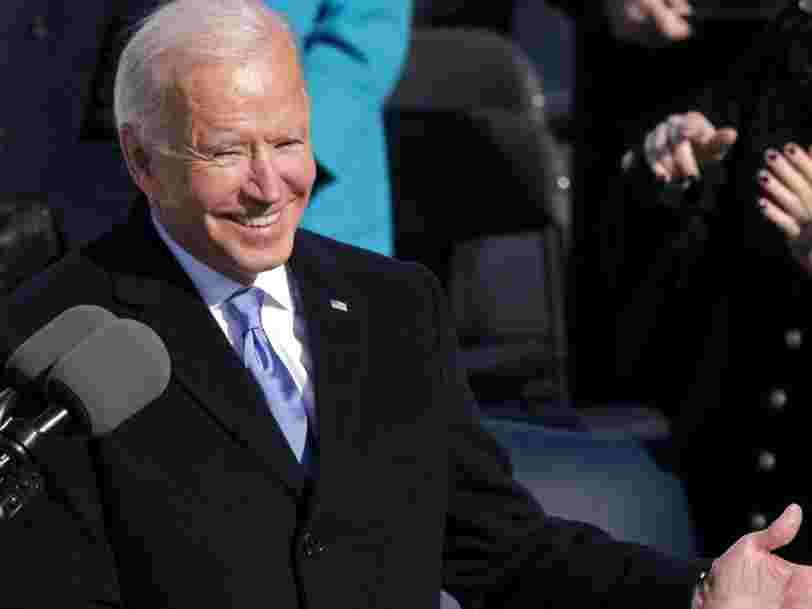 """Joe Biden déclare que """"l'unité est la voie à suivre"""" dans son discours inaugural"""