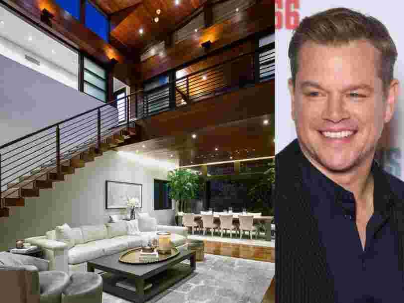 Découvrez l'intérieur de la maison de Matt Damon, à vendre pour 21 M$