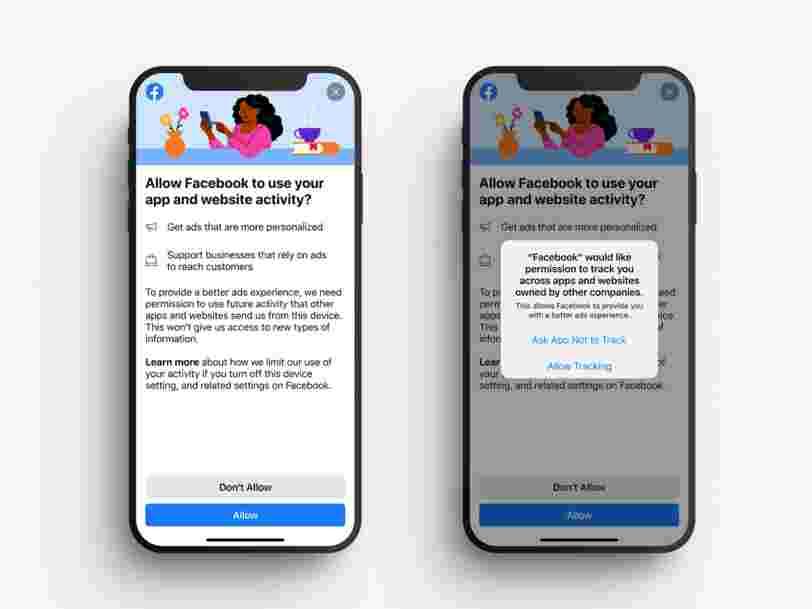 Facebook demande à ses utilisateurs d'autoriser le traçage publicitaire pour contrer Apple