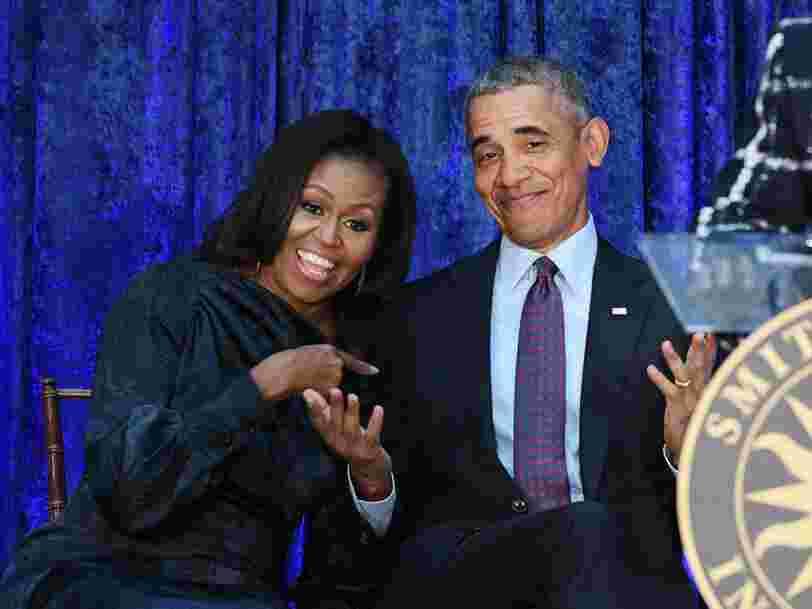 Netflix annonce de nouveaux projets produits par les Obama