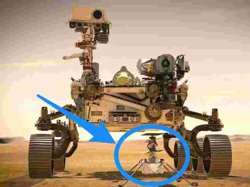 Le tout premier hélicoptère spatial de la NASA s'approche de Mars