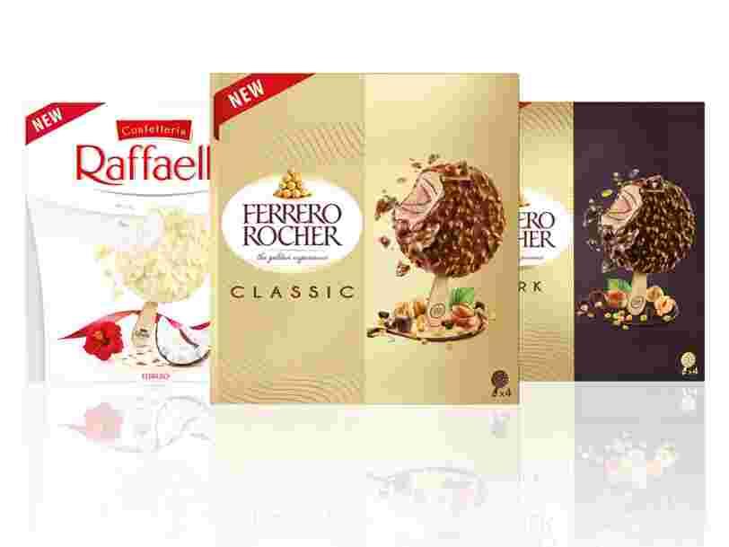 Après les chocolats, découvrez les glaces Ferrero Rocher et Raffaello