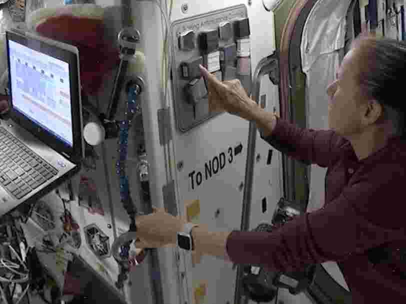 Des astronautes testent un revêtement de surface anti-coronavirus à bord de l'ISS