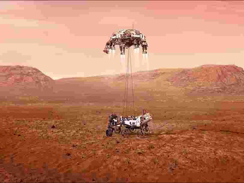 L'atterrissage de Perseverance sur Mars, ce sont 'sept minutes de terreur'