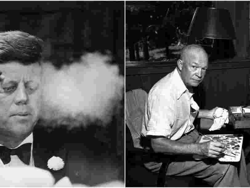 Cigares, peinture et mots croisés : les surprenantes passions de 17 présidents américains