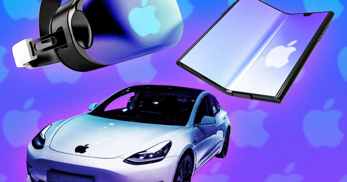 iPhone pliable, casque VR, 'Apple Car'... Tout ce qu'Apple prépare pour les prochaine années