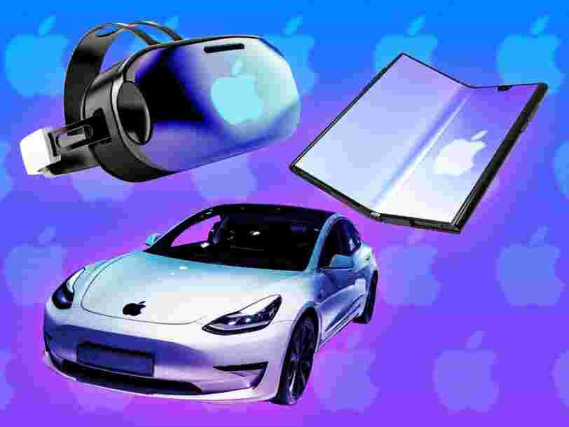 iPhone pliable, casque VR, 'Apple Car'... Tout ce qu'Apple prépare pour les prochaines années