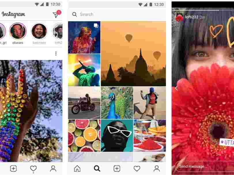 Facebook lance 'Instagram Lite', une version d'Instagram moins lourde à télécharger dans 170 pays