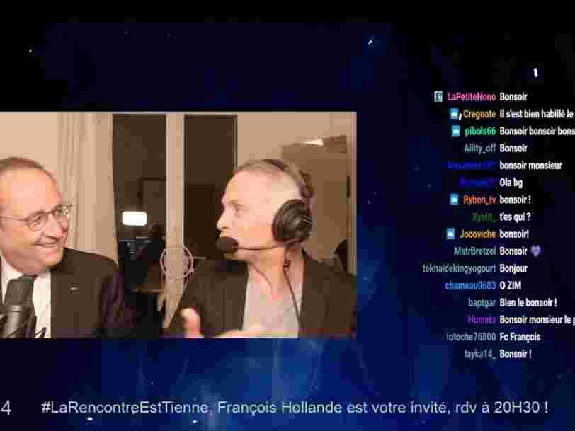 Après François Hollande, le journaliste Samuel Étienne invite Jean Castex et Marine Le Pen sur Twitch