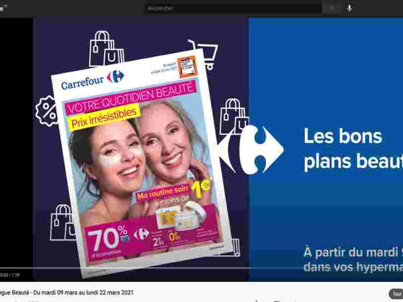 Carrefour teste sur YouTube des vidéos commentant ses prospectus