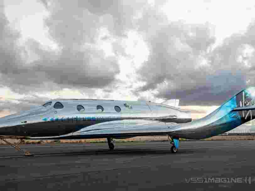 Voici le nouvel appareil de Virgin Galactic qui emmènera des touristes dans l'espace