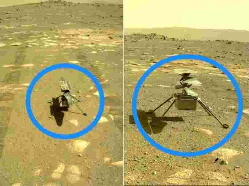 Ingenuity a survécu à sa première nuit sur Mars et s'apprête à voler