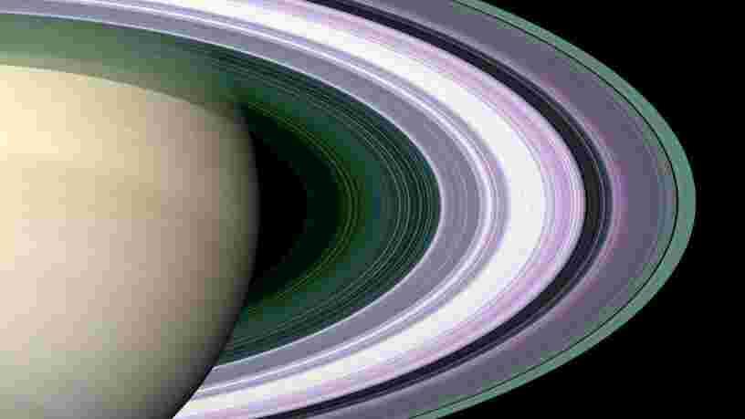 Cette animation montre comment les anneaux de Saturne agissent comme un 'mini-système solaire'