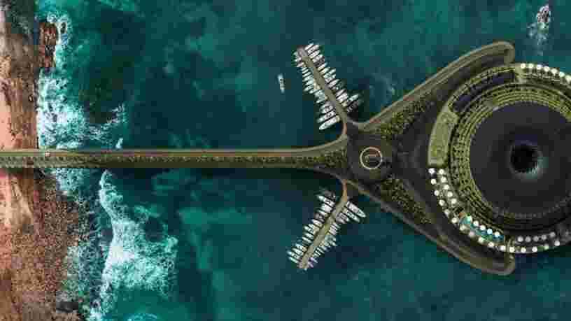 Cet hôtel 5 étoiles flottant en projet produirait sa propre électricité en tournant