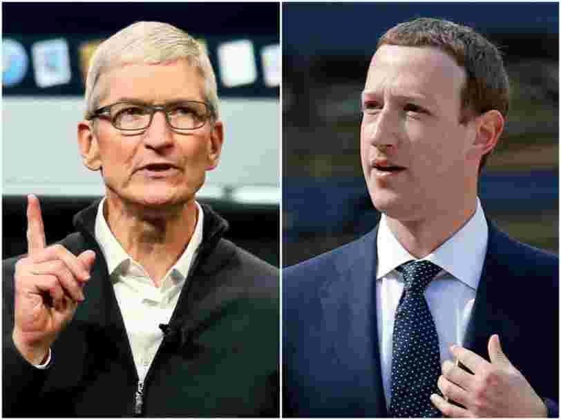 Mark Zuckerberg et Tim Cook se livrent un combat sans merci, voici l'histoire de leur rivalité