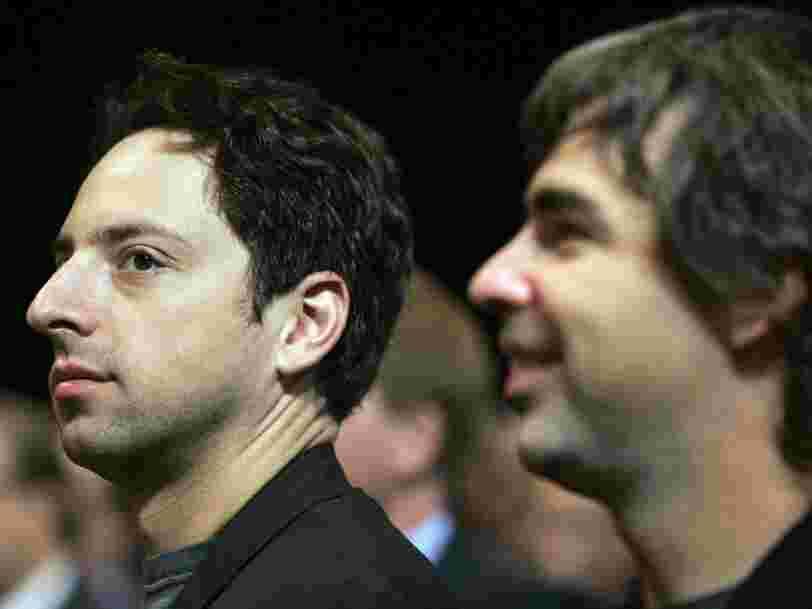Les fondateurs de Google, Larry Page et Sergey Brin, font partie des 8 fortunes supérieures à 100 Mds$