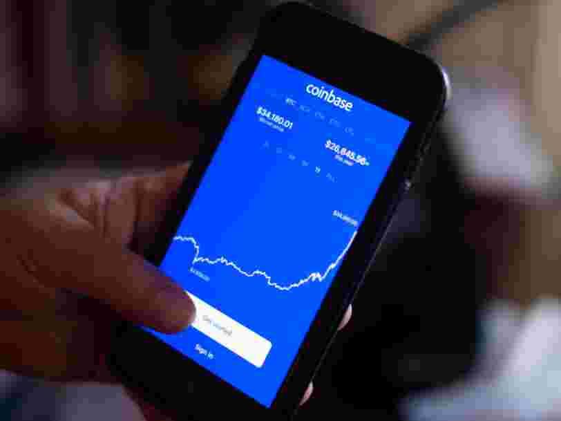 Coinbase, valorisée à 65,3 Mds$, fait son entrée historique en Bourse ce mercredi