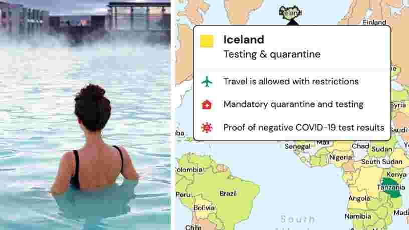 Cette carte interactive vous permet de savoir où voyager selon votre localisation et les règles sanitaires en vigueur