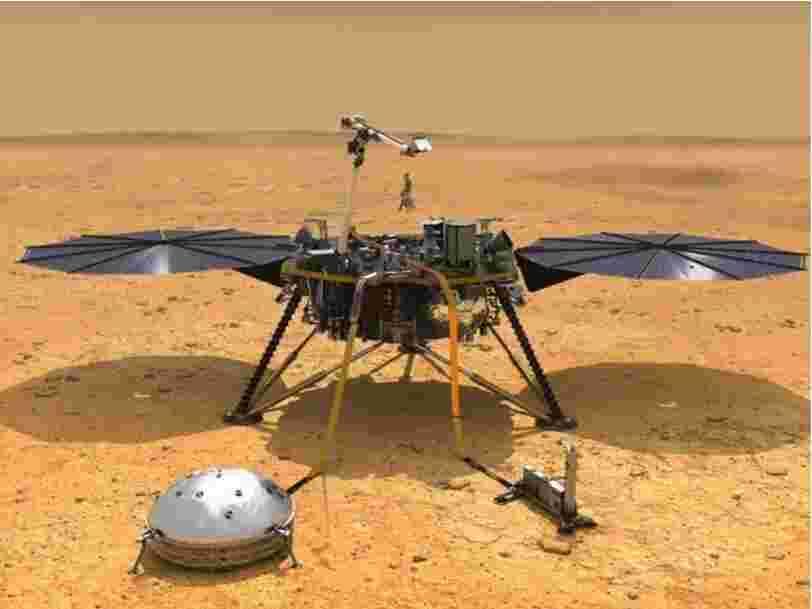 L'atterrisseur martien InSight de la NASA passe en veille pour recharger ses batteries