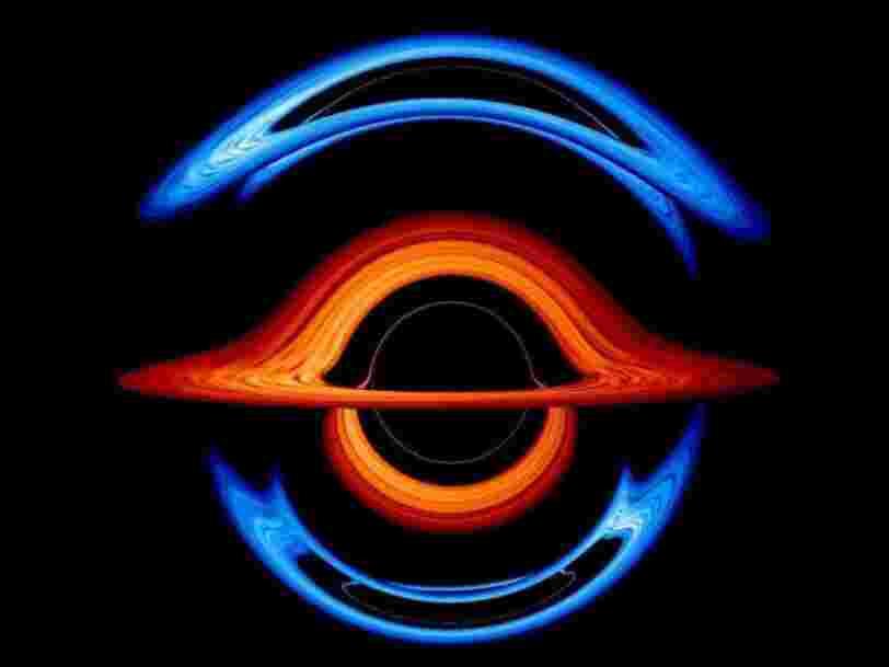 Cette animation de la NASA montre deux trous noirs supermassifs dansant l'un autour de l'autre