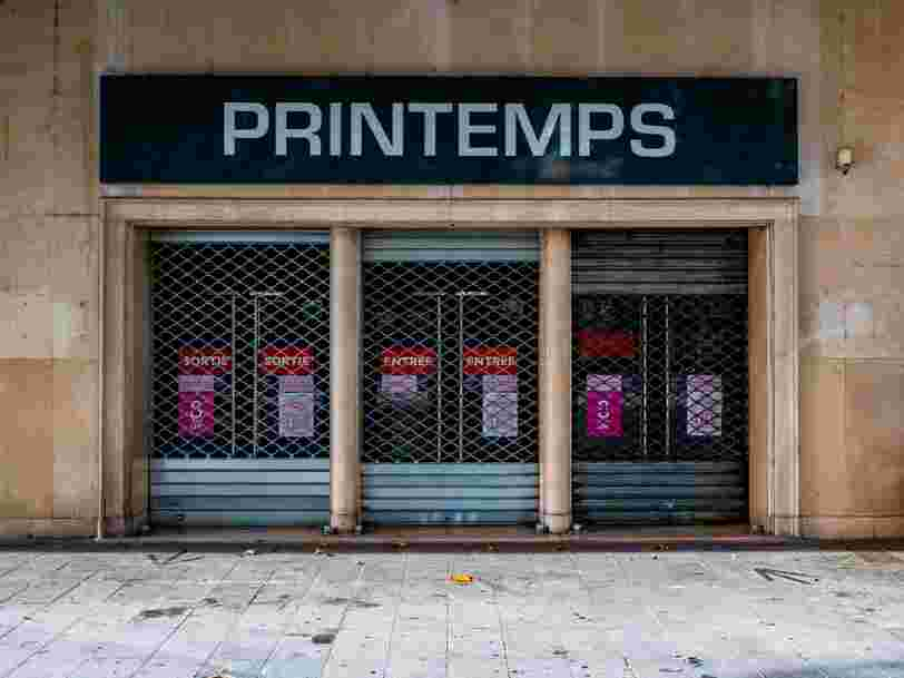 Le groupe Printemps va bientôt fermer quatre magasins en France
