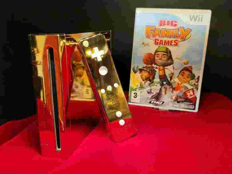 Cette Nintendo Wii plaquée or, fabriquée pour Elizabeth II, est en vente sur eBay à 300 000$