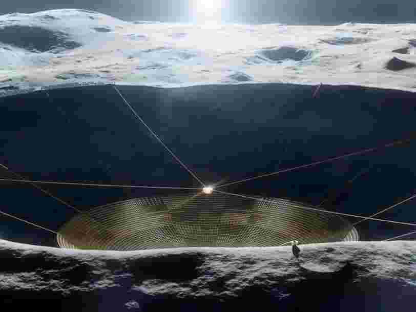 La NASA envisage de construire un énorme télescope à l'intérieur d'un cratère de la Lune