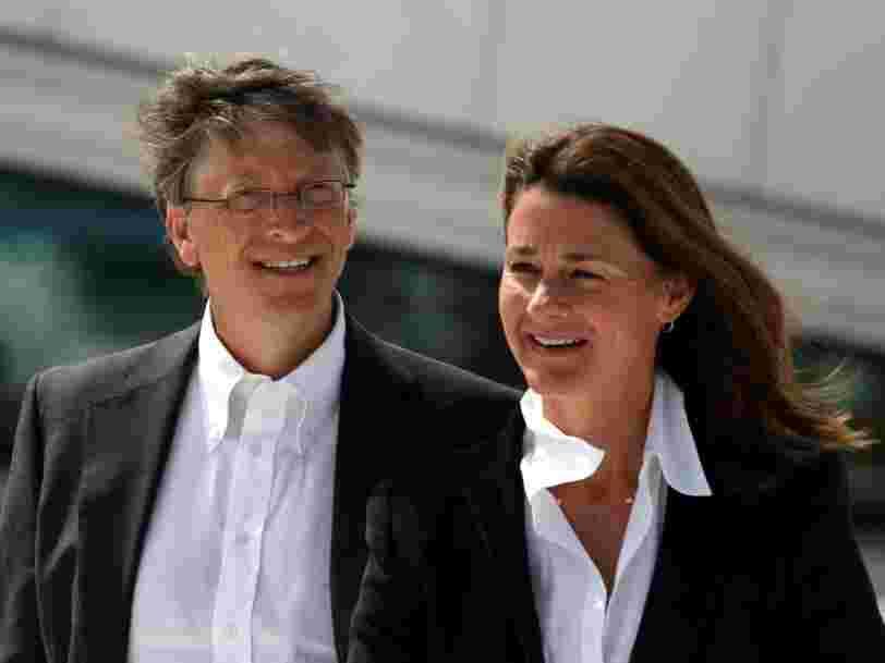 Bill Gates a transféré à Melinda Gates 2,4 Mds$ en actions le jour de l'annonce de leur divorce