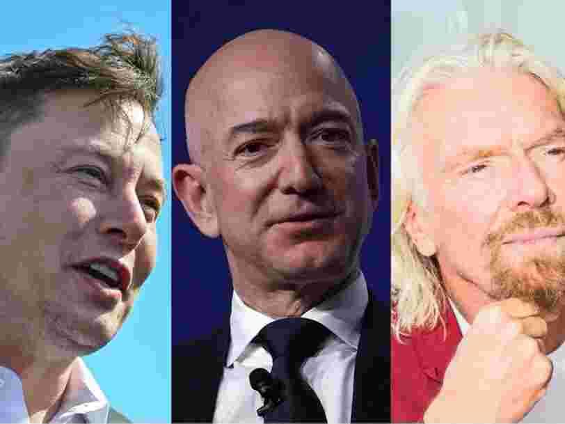 Voici comment Elon Musk, Jeff Bezos et Richard Branson se positionnent sur la conquête spatiale
