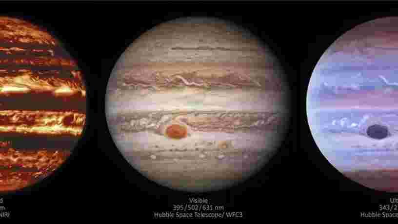 Des images étonnantes de Jupiter et de sa Grande Tache rouge saisies par deux télescopes