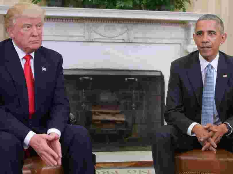 Barack Obama aurait traité Donald Trump de 'connard corrompu', selon un nouveau livre