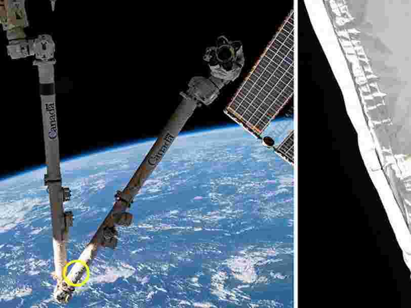 Un débris spatial a perforé le bras robotisé de l'ISS