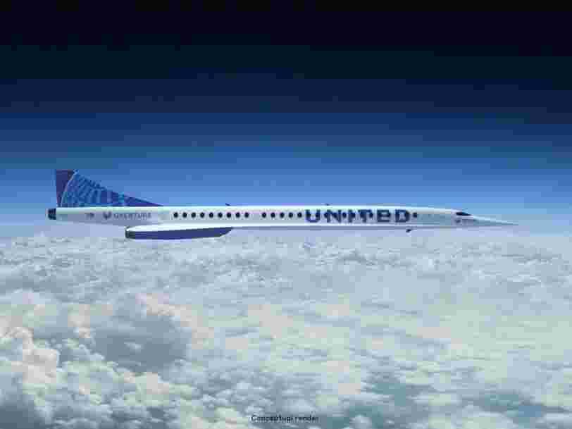 United Airlines veut acheter 15 avions supersoniques