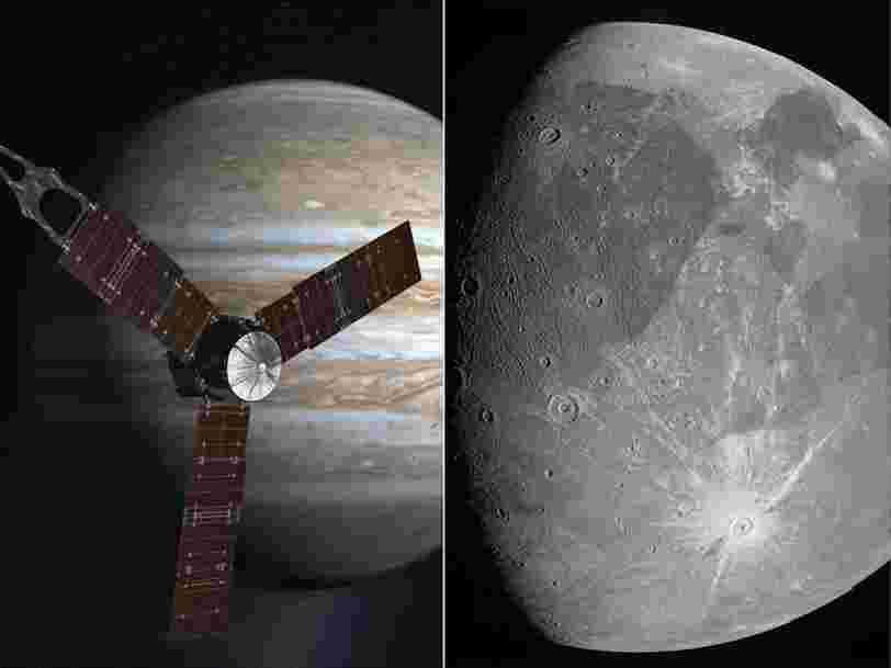 La sonde Juno a transmis des photos de Ganymède, le satellite de Jupiter, une première en 20 ans