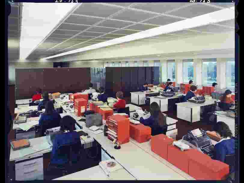 Voici à quoi ressemblait la vie au bureau dans les années 1970
