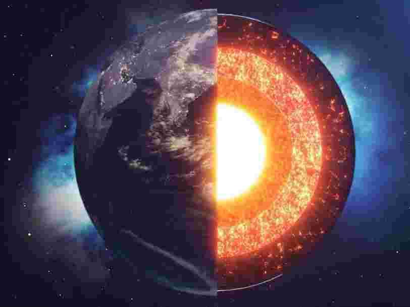 Le noyau de la Terre grossit de façon déséquilibrée depuis au moins un demi-milliard d'années