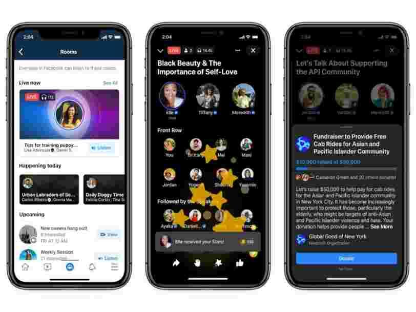 Facebook lance son offre de discussion en direct, concurrente de Clubhouse