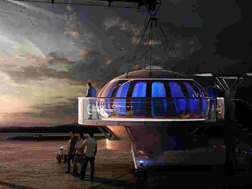 Une startup propose d'emmener des touristes dans l'espace à bord d'un vaisseau soulevé par un ballon