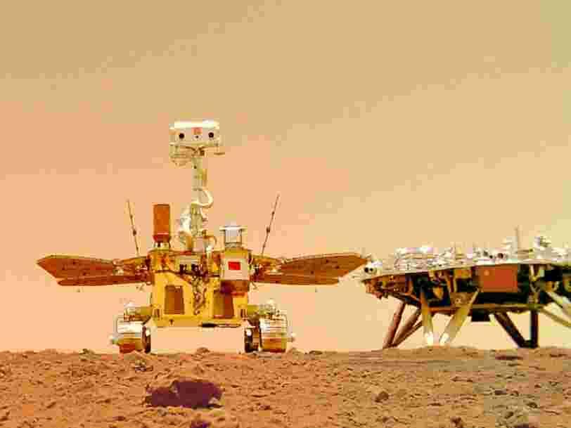 La Chine dévoile les premières vidéos prises sur Mars par son rover
