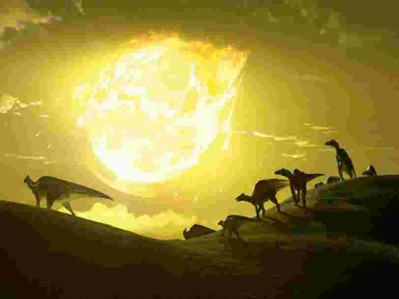 Le déclin des dinosaures aurait débuté bien avant la chute d'un astéroïde sur Terre